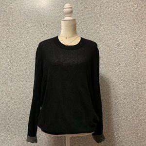 ❤️Anthony Melillo Black Knit Sheer Long Sleeve L❤️